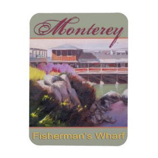 Monterey Fishermans Wharf Scenic California Coast Magnet