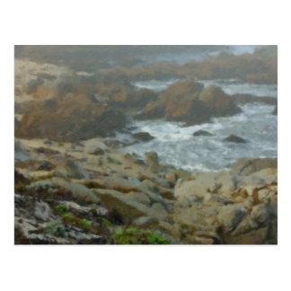 Monterey Fog Big Sur California 2 Painted Postcard