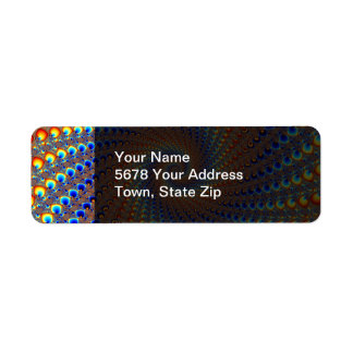 Monterey Fractal Art Return Address Label