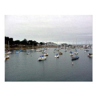 Monterey Harbor Water Boats Postcard