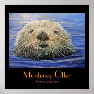 Monterey Otter Poster