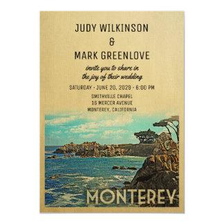 Monterey Wedding Invitation Vintage Mid-Century