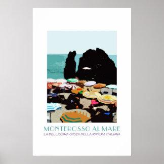 Monterosso, Cinque Terre, Italy Vintage Poster