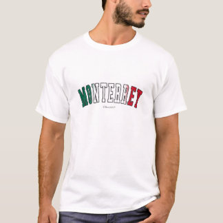 Monterrey in Mexico national flag colors T-Shirt