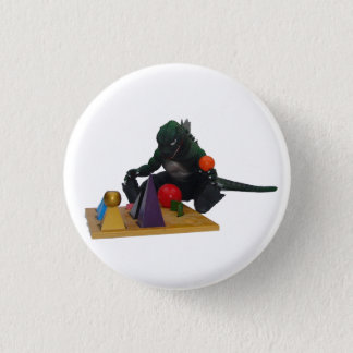 Montessaurus & Grammar Solids 1 Inch Round Button