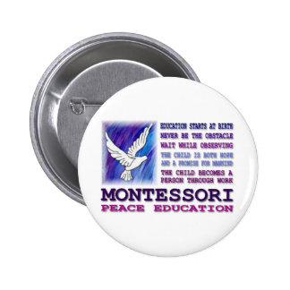 Montessori Dove 2 Inch Round Button