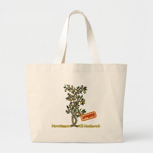 Montessori Lemon Tree Canvas Bags