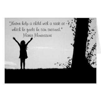 Montessori quote helping children card