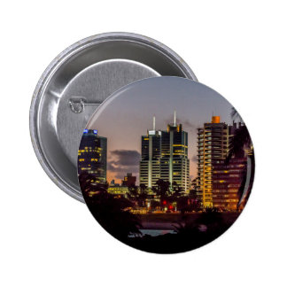 Montevideo Cityscape Scene at Twilight 2 Inch Round Button