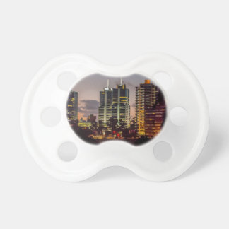 Montevideo Cityscape Scene at Twilight Baby Pacifier