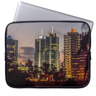 Montevideo Cityscape Scene at Twilight Laptop Sleeve