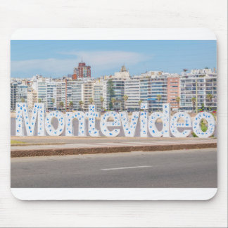 Montevideo Letters at Pocitos Beach Mouse Pad