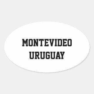Montevideo Uruguay oval stickers