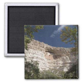 Montezuma Castle National Monument, Arizona 2 Square Magnet