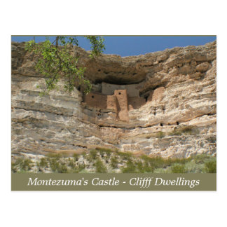 Montezuma's Castle Ruins Arizona Post Card