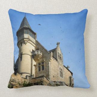 Montfort castle, Dordogne, France Throw Pillow