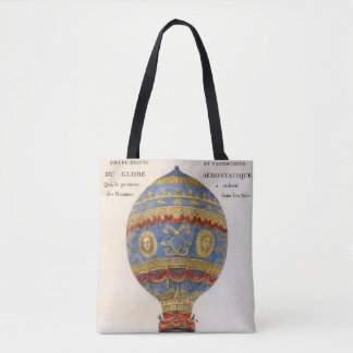 Montgolfier Brothers Hot Air Balloon Tote Bag