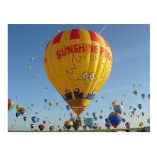 Montgolfier - Hot air Balloon - Sunshine People Postcard