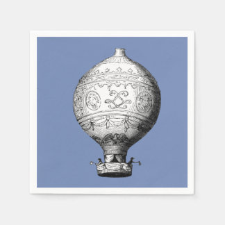 Montgolfier Vintage Hot Air Balloon Disposable Napkins
