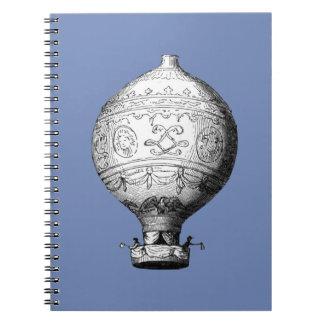 Montgolfier Vintage Hot Air Balloon Notebook