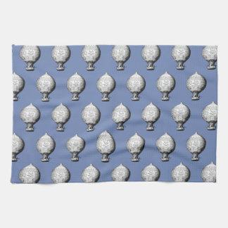 Montgolfier Vintage Hot Air Balloon Pattern Kitchen Towel