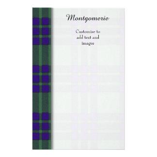 Montgomerie clan Plaid Scottish tartan Personalized Flyer