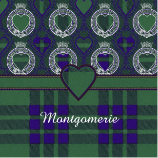Montgomerie clan Plaid Scottish tartan Photo Sculpture Button