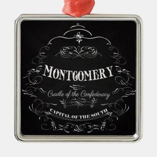 Montgomery Alabama - Cradle of the Confederacy Silver-Colored Square Ornament
