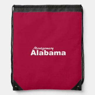 Montgomery, Alabama Drawstring Backpack