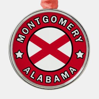 Montgomery Alabama Silver-Colored Round Ornament
