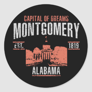 Montgomery Classic Round Sticker