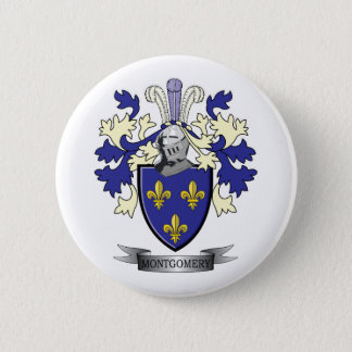 Montgomery Family Crest Coat of Arms 2 Inch Round Button
