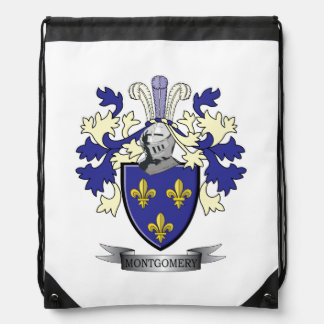 Montgomery Family Crest Coat of Arms Drawstring Bag