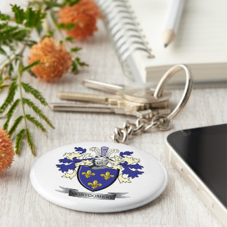 Montgomery Family Crest Coat of Arms Keychain