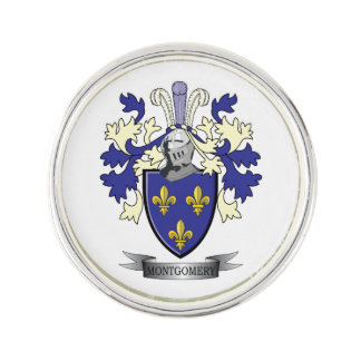Montgomery Family Crest Coat of Arms Lapel Pin