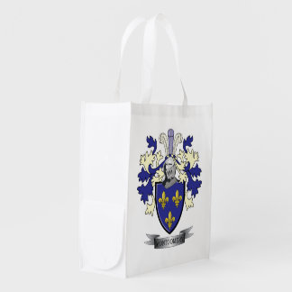 Montgomery Family Crest Coat of Arms Reusable Grocery Bag