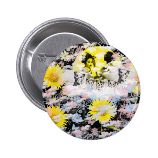 Month and the Muko mallow and dance 妓 it causes, t 2 Inch Round Button