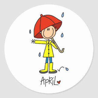 Month of April Classic Round Sticker