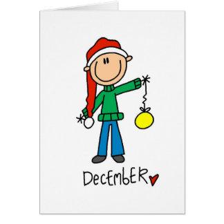 Month of December Card