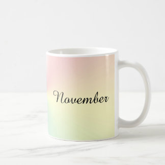 Month of November Shimmer Coffee Mug by Janz
