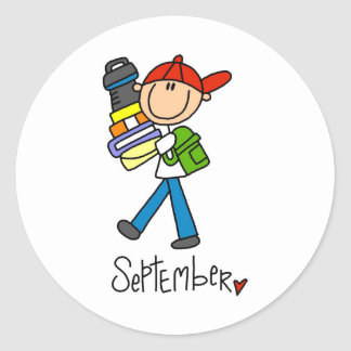 Month of September Round Stickers