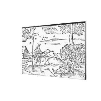 Month of September 'The Shepheardes Calender' Gallery Wrap Canvas