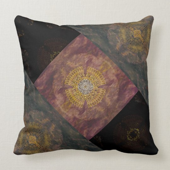 Month reading - purple bloom throw pillow