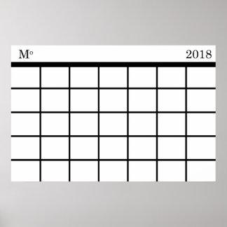 Monthly Calendar : Poster