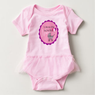 Monthly Milestone Birthday Party Tutu Bodysuit