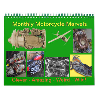 Monthly Motorcycle Marvels 2016 Wall Calendars