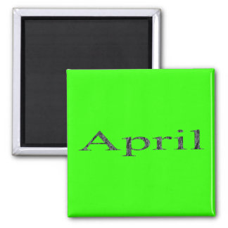 Months of the Year - April Square Magnet