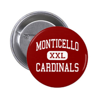 Monticello - Cardinals - Cleveland Heights 2 Inch Round Button