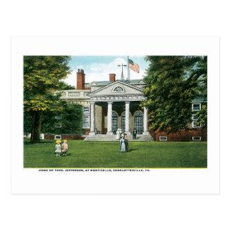 Monticello - Home of Thomas Jefferson, Charlottesv Postcard