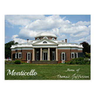 Monticello, Home of Thomas Jefferson Postcard